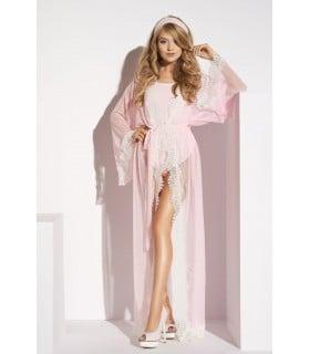 Длинный эротический розовый халатик Ardea M - No Taboo
