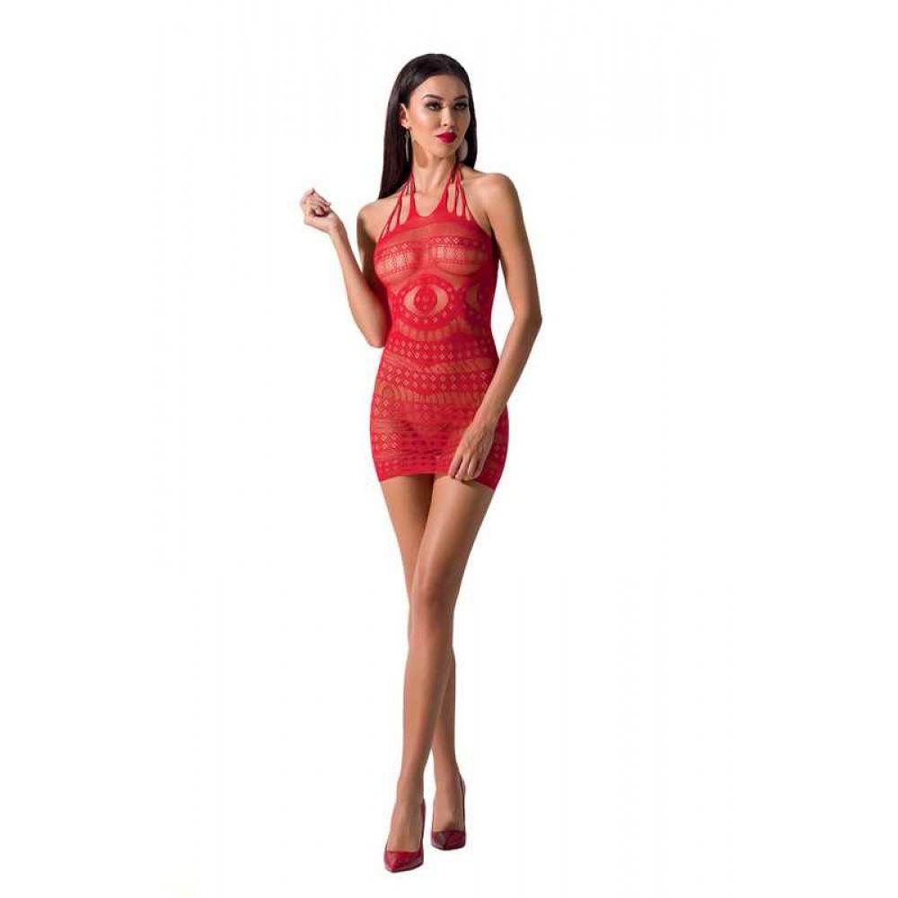 Эффектное платье сетка красное Passion S/L (32540)