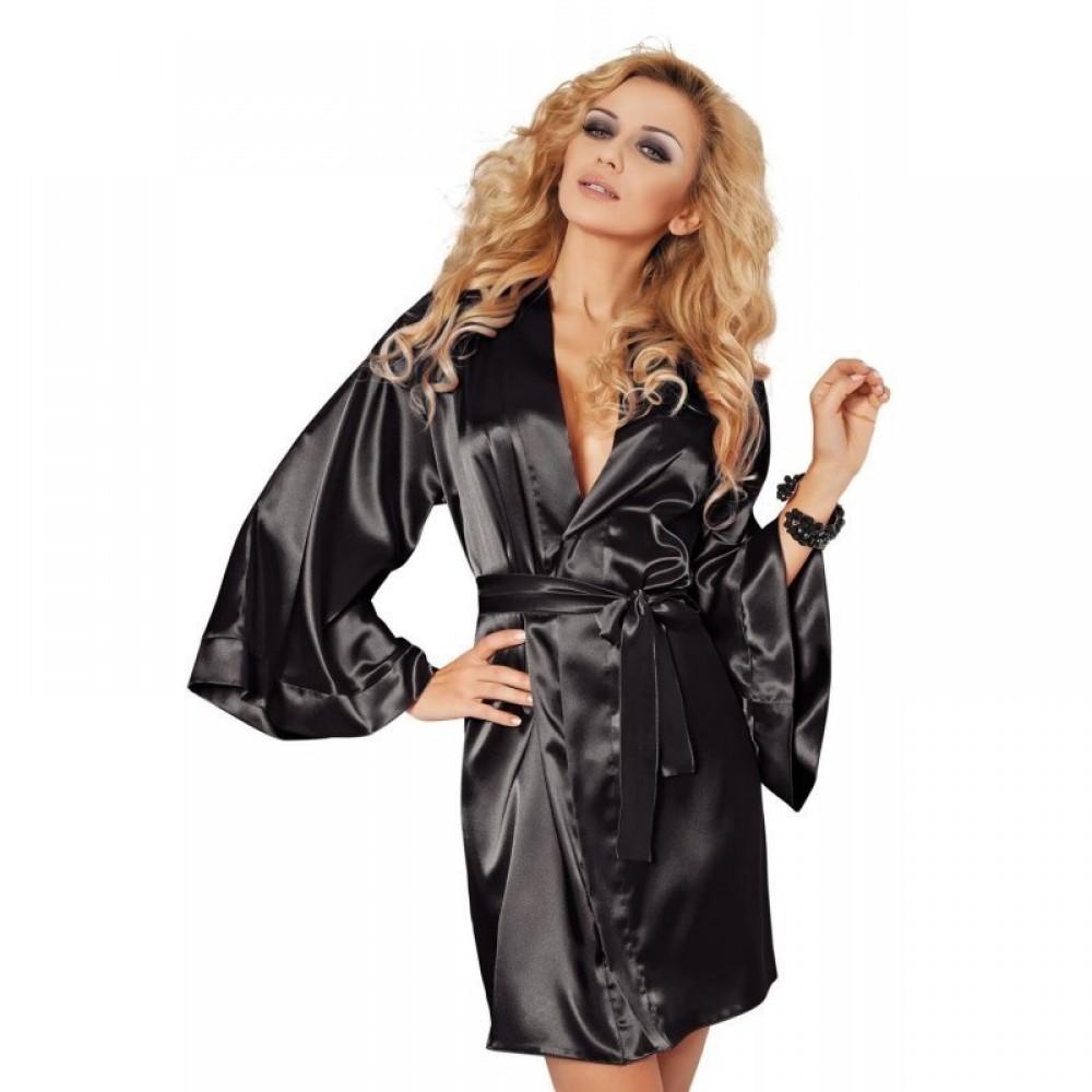 Халатик Cassie Black, M (25070), фото 1 — секс шоп Украина, NO TABOO
