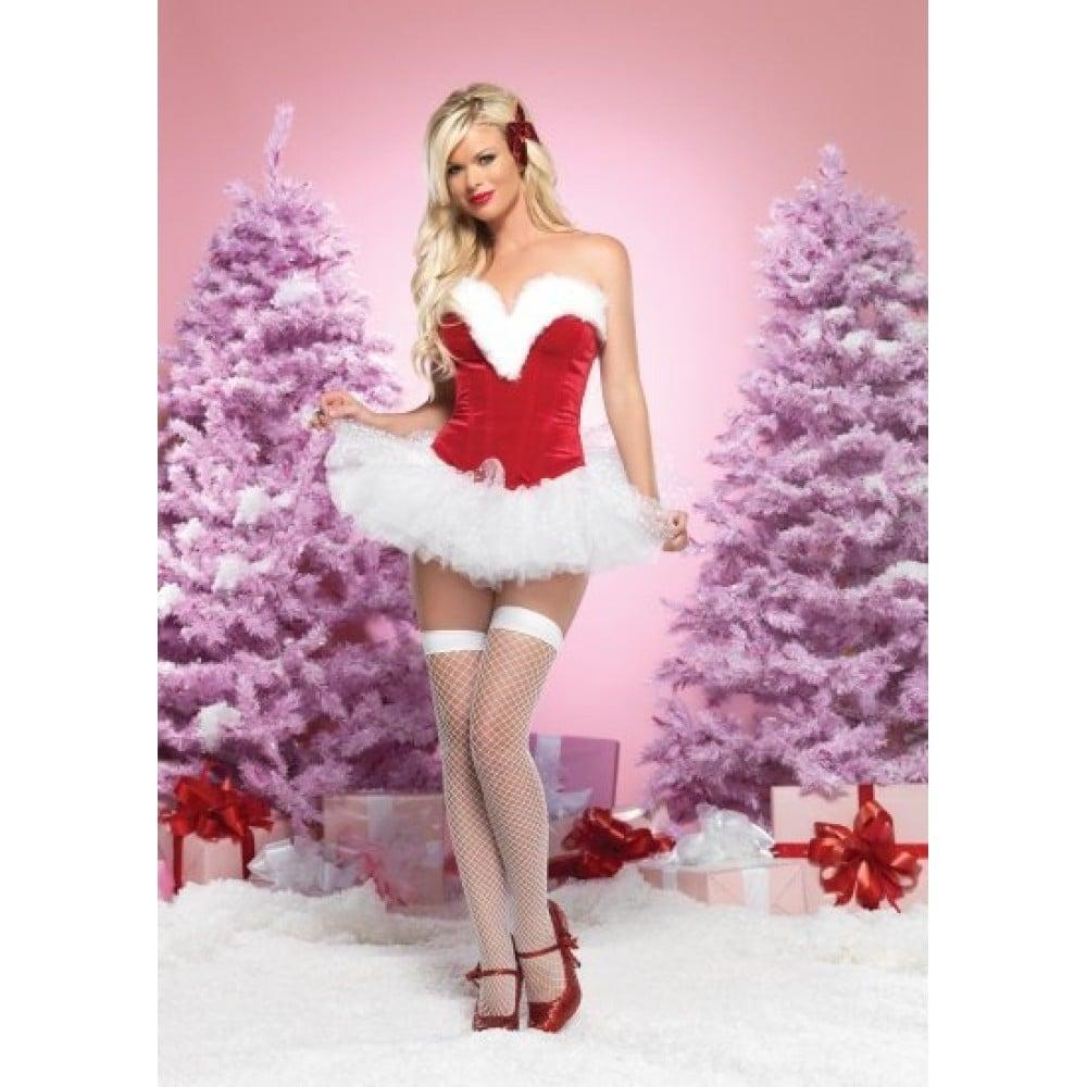 Корсет новогодний для Секси Снегурочки, M (8174), фото 1 — секс шоп Украина, NO TABOO