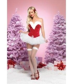 Корсет новогодний для Секси Снегурочки, M - No Taboo