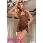 Леопардове Сексуальне плаття O / S