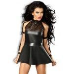 Эротическое виниловое платье черное S/M