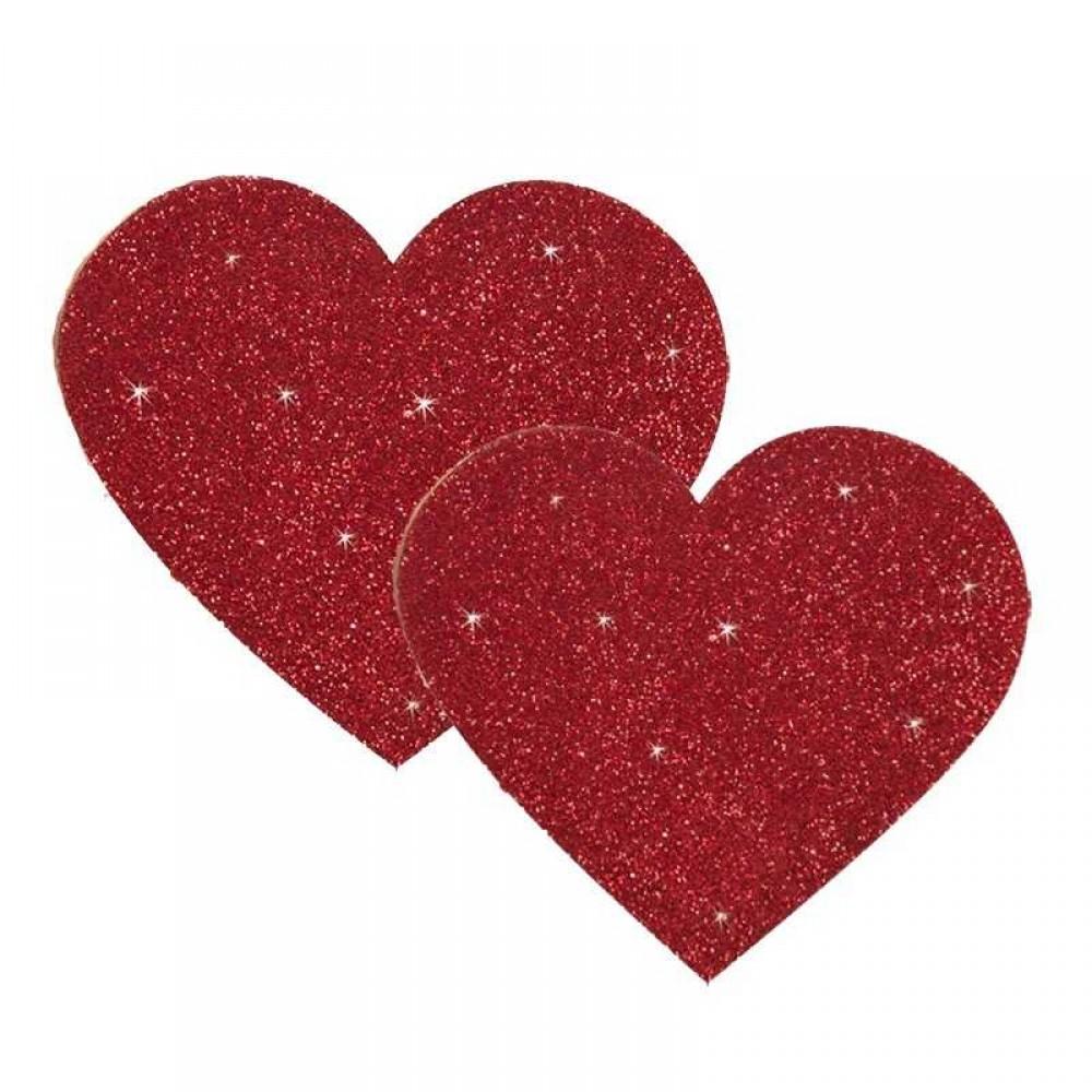 Наклейки на грудь красное сердце Titty Sticker Heart - No Taboo