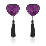 Пест у формі серця Фіолетові стрази з пензликами