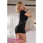 Мини платье Sunspice с вырезами на спине, черное, OS