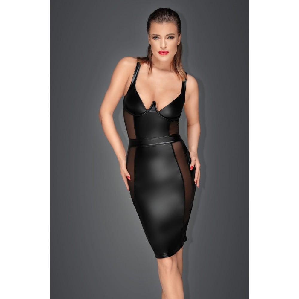 Эротичное черное платье с прозрачными вставками Noir Handmade XL (31945), фото 1 — секс шоп Украина, NO TABOO