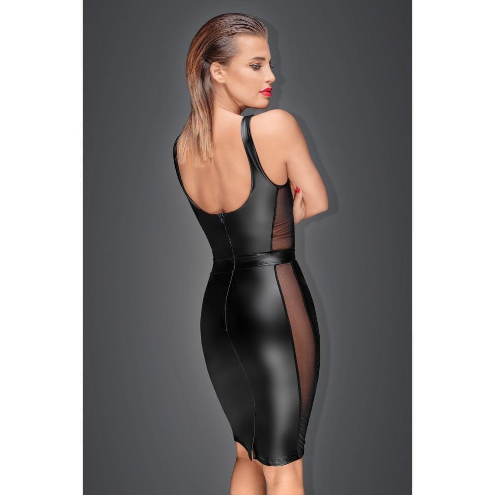 Эротичное черное платье с прозрачными вставками Noir Handmade S (30545)