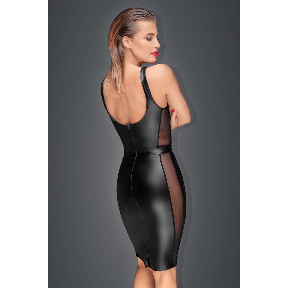 Эротичное черное платье с прозрачными вставками Noir Handmade XXL (32035), фото 2 — секс шоп Украина, NO TABOO