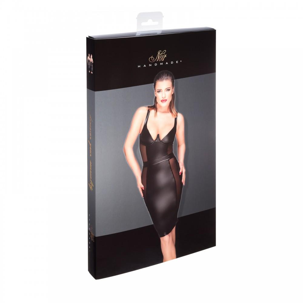 Эротичное черное платье с прозрачными вставками Noir Handmade XXL (32035), фото 3 — секс шоп Украина, NO TABOO