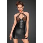 Сексуальное облегающее черное платье с прозрачным бюстом Noir Handmade S