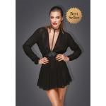 Эротическое черное платье с чокером на шею M