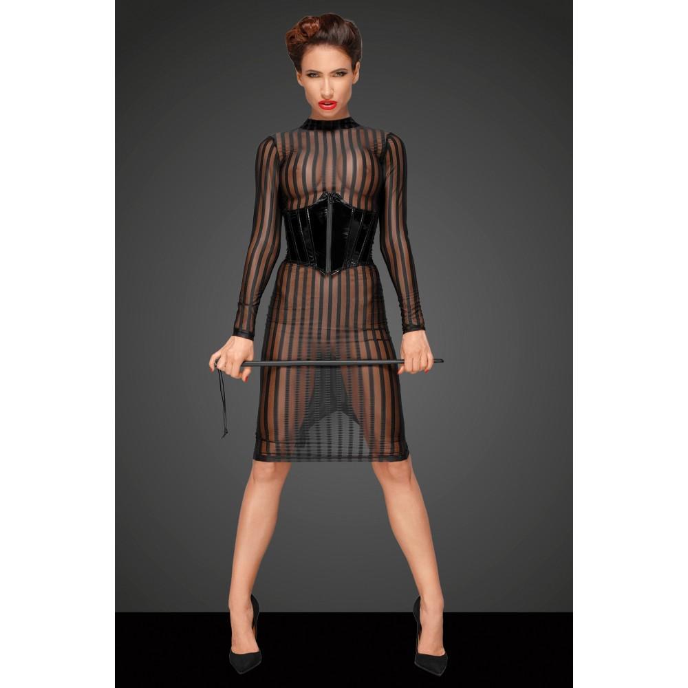 Полупрозрачное сексуальное платье в полоску S - No Taboo