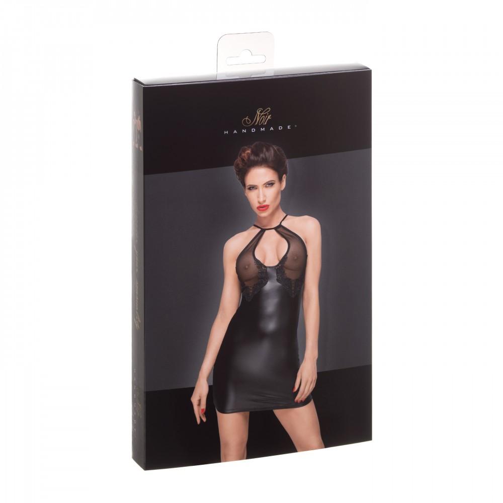 Сексуальное облегающее черное платье с прозрачным бюстом Noir Handmade M, фото 3