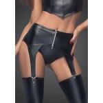 Пояс для чулок сексуальный из винила Noir Handmade, черный, размер XL