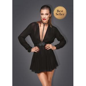 Прозрачное платье свободного кроя с чокером Noir Handmade L (30648), zoom
