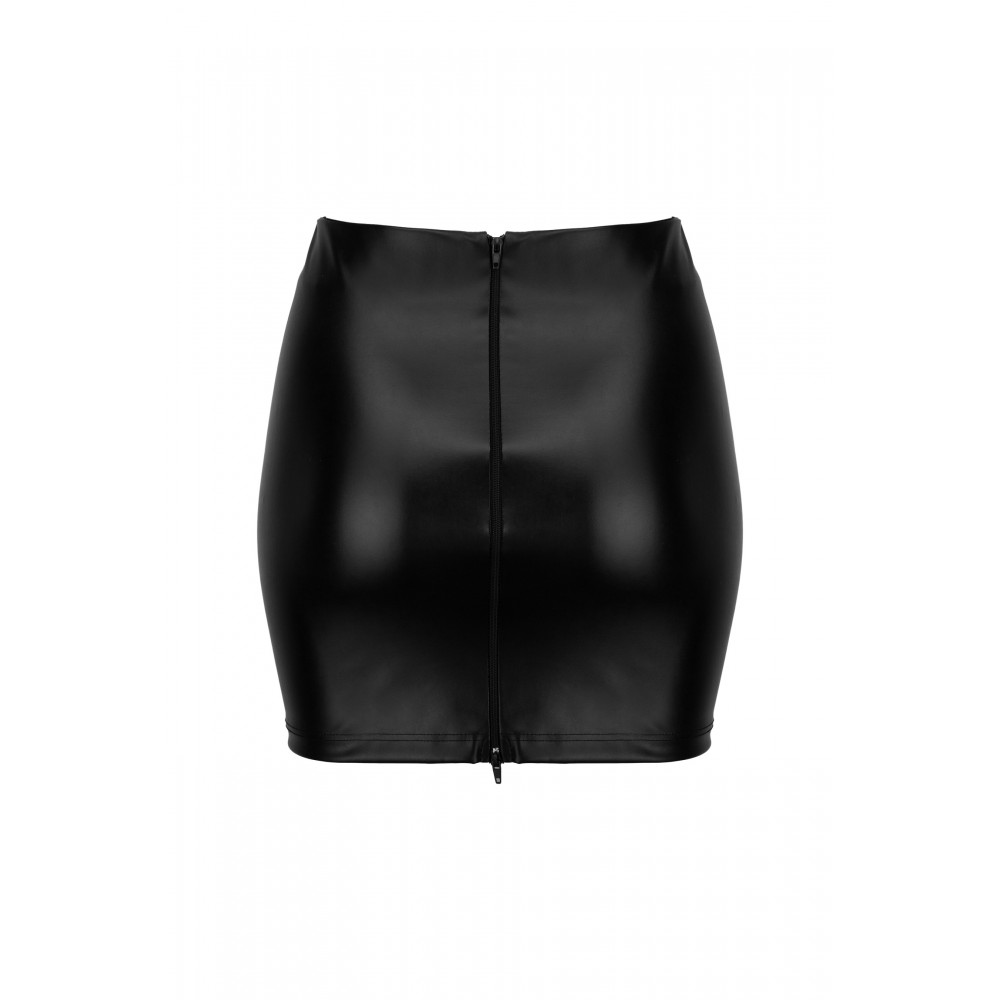 Юбка из винила Noir Handmade с 2 молниями, размер L (31914)
