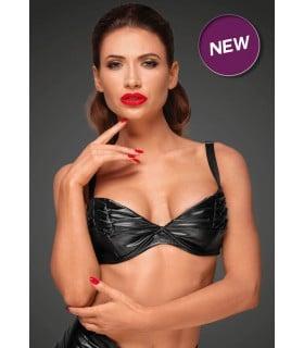 Сексуальный бюстгальтер с декоративными складками Noir Handmade XL - No Taboo