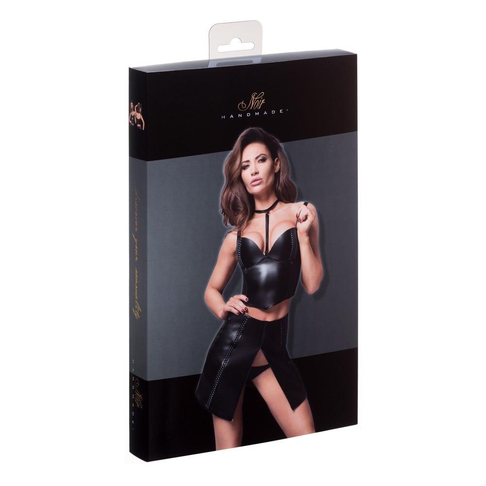 Топ-корсет сексуальный с чокером F170 Noir Handmade L - No Taboo