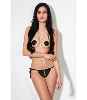 Сексуальные трусики-бикини кружевные, чёрные XS/S - No Taboo
