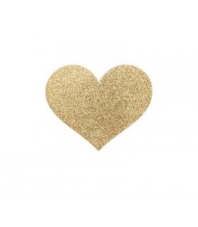 Украшение для груди Flash золотое Сердце, Bijoux Indiscrets