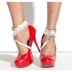 Украшение на ноги под обувь белое Me-Seduce