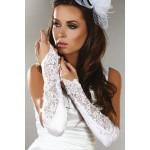 Довгі білі рукавички