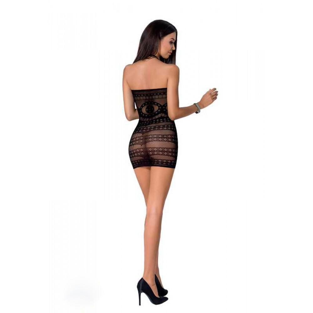 Эффектное платье сетка черное Passion, S/L (32539)