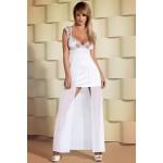 Платье эротическое атласное белое Feelia L/XL