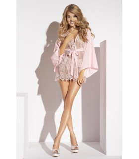 Короткий сексуальный халатик розовый Barletta S - No Taboo