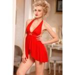 Мини платье сексуальное красное O/S