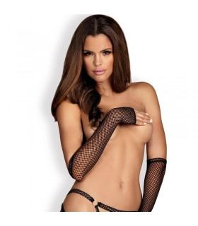 Митенки-перчатки из сеточки Darkie черные O/S - No Taboo