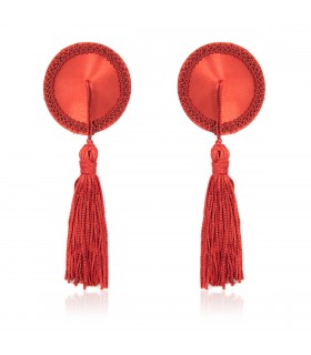 Пэстисы красные круглые с кисточками - No Taboo