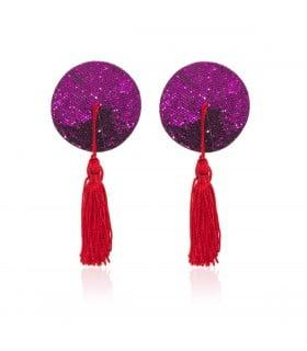 Пестисы круглые фиолетовые с красными кисточками - No Taboo