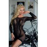 Сексуальное платье SoftLine в сеточку, черное, размер OS