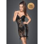 Платье с гипюром, Noir Handmade,черное, размер L