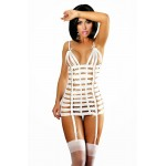 Платье сексуальное из лент белое S/M