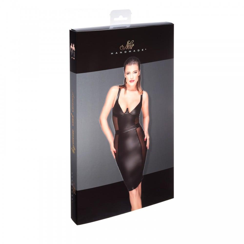 Еротична чорна сукня з прозорими вставками Noir Handmade M (31943)