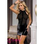 Платье черное виниловое эротическое O/S