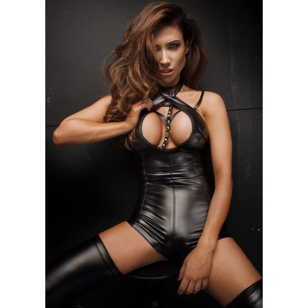 Сексуальный боди с глубоким декольте Noir Handmade XL (31911)