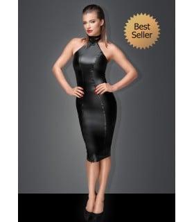 Сексуальное облегающее черное платье Госпожи с кольцом на шею S - No Taboo