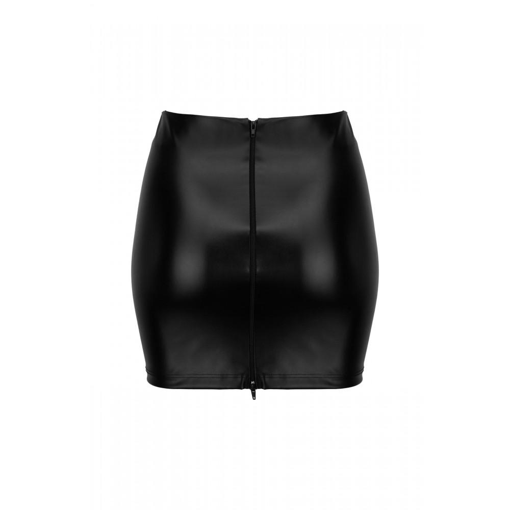 Спідниця з вінілу Noir Handmade з 2 блискавками, розмір M (31913)