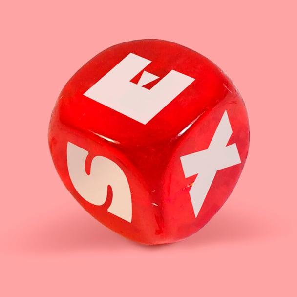 Фото 1 - Игральный кубик со словом SEX