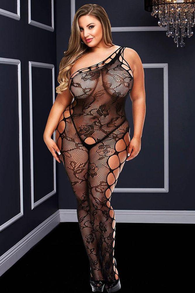Фото 1 - Девушка в сексуальном комбинезоне из сетки