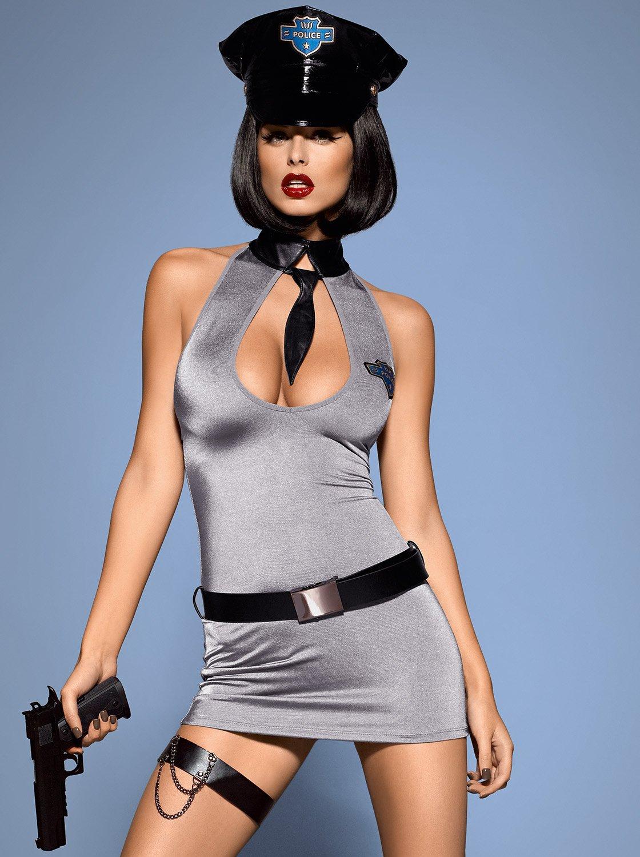 Фото 1 - Девушка в сексуальном костюме полицейской