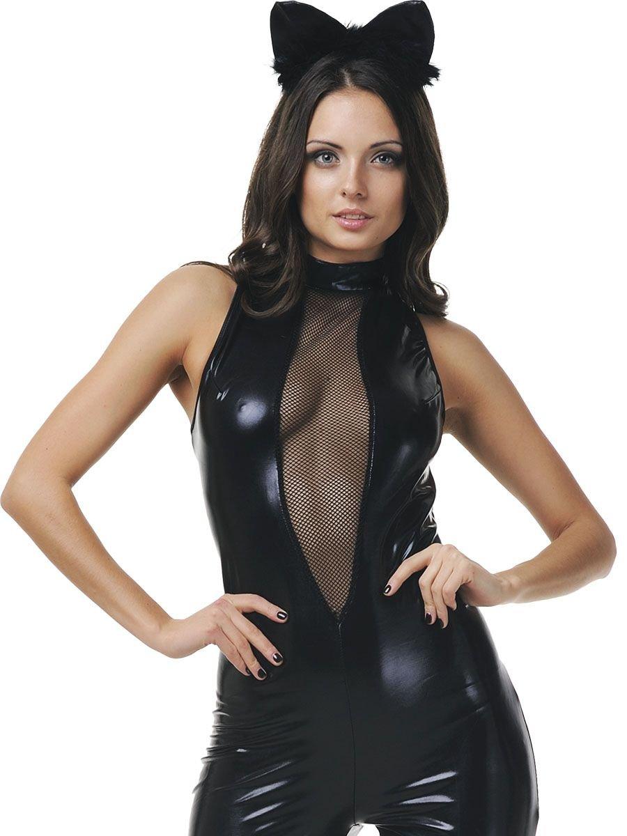 Фото 2 - Девушка в эротическом костюме кошечки